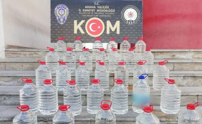 Adana'da bin 640 litre sahte içki ele geçirildi