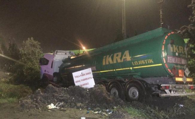 Seyir halinde kalp krizi geçiren tanker şoförü öldü