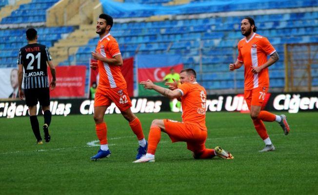TFF 1. Lig: Adanaspor: 3 - Eskişehirspor: 0 (İlk yarı sonucu)