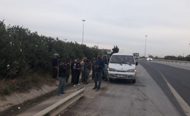 9 kişilik araçtan 18 kişi çıktı