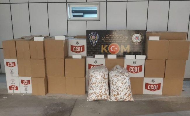 Adana'da 1 milyon 220 bin kaçak makaron ele geçirildi