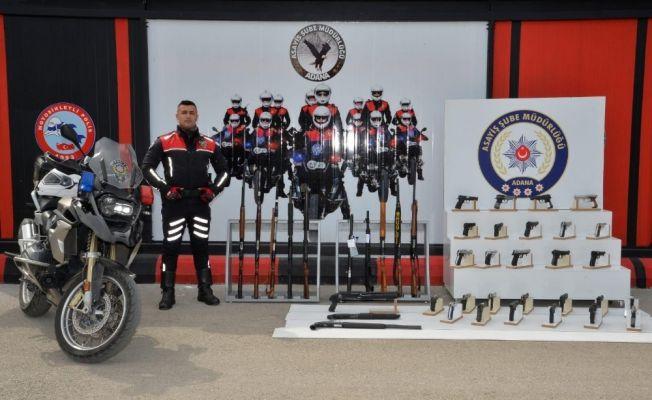 Adana'da 53 ruhsatsız silah ele geçirildi