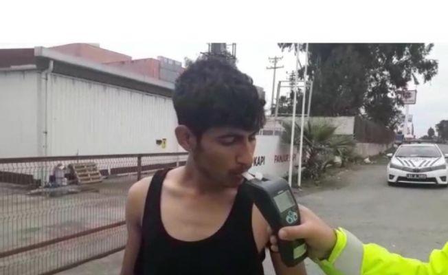 Ehliyetsiz alkollü sürücü ikinci kez yakalandı