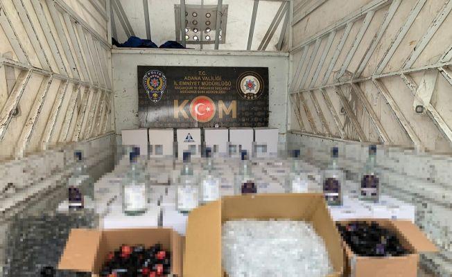 Adana'da 7 bin 544 litre kaçak etil alkol ele geçirildi