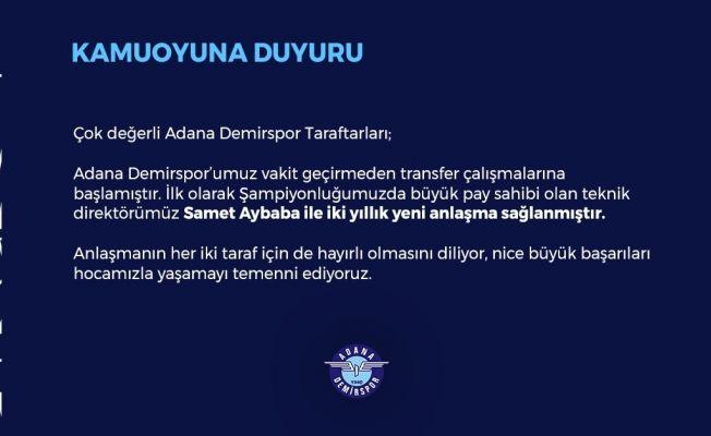 Adana Demirspor, Samet Aybaba ile yola devam edecek