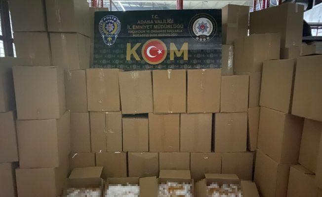 Adana'da 5 milyon 550 bin kaçak makaron ele geçirildi