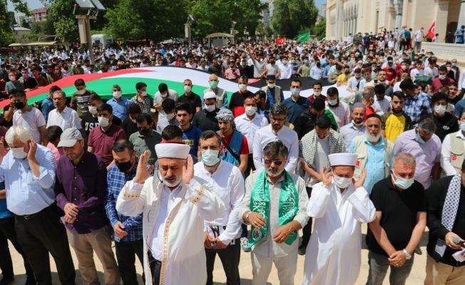 Adana'da Filistinliler için gıyabi cenaze namazı kılındı