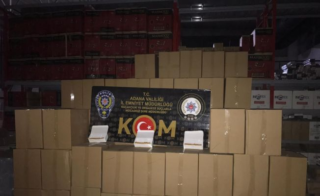 2 milyon 750 bin kaçak makaron ele geçirildi