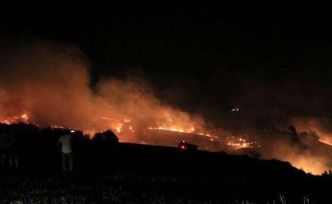 Ağaçlık alana sıçrayan anız yangını kontrol altına alındı
