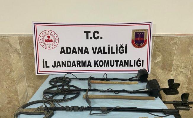 Adana'da izinsiz define arayan 2 kişi suçüstü yakalandı