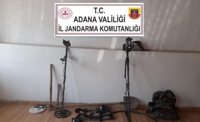 Adana'da kaçak kazı yapan 4 kişi suçüstü yakalandı