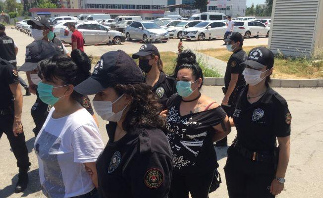 Kadınlı suç örgütüne 10 tutuklama