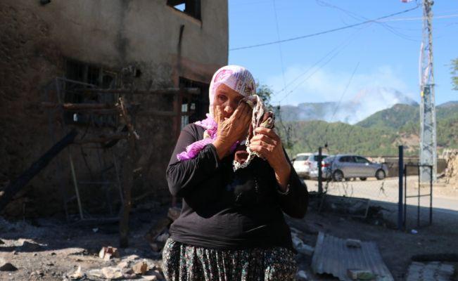 10 yıl önce bakkal dükkanı dün de evi yandı