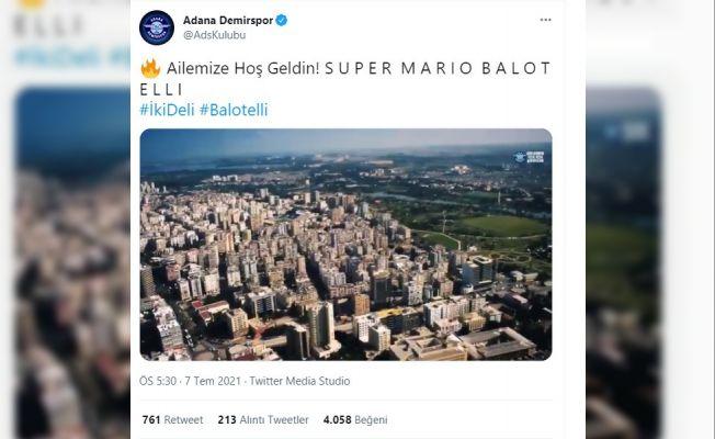 Adana Demirspor'dan Mario Balotelli'ye özel klip