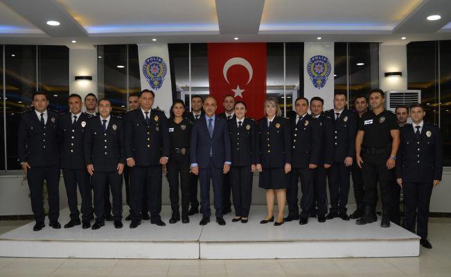 Adana Emniyeti'nde rütbe töreni