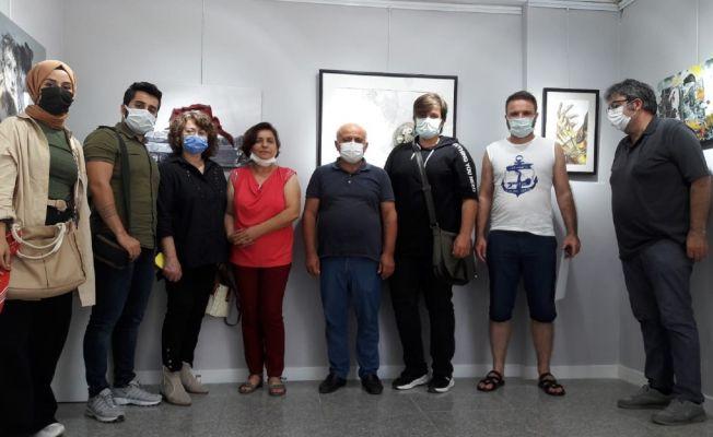 """Adana'da """"Daralma"""" resim sergisi açıldı"""