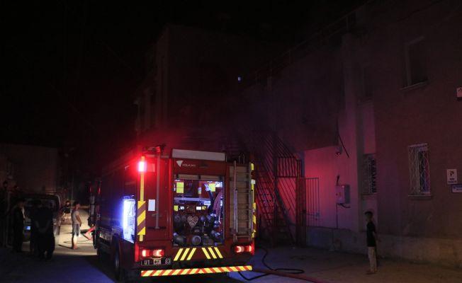 Adana'da tekstil atölyesinde yangın