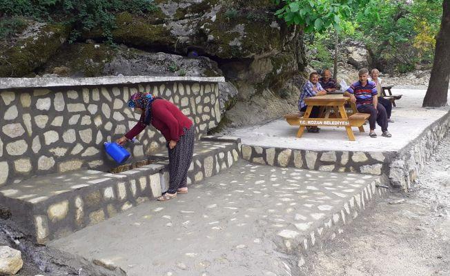 Kaynak suyu çevresi mesire alanına dönüştürüldü