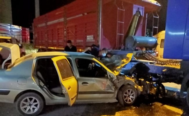 Zabıta müdürü kazada yaralandı