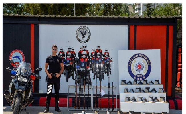 Adana'da 74 ruhsatsız silah ele geçirildi