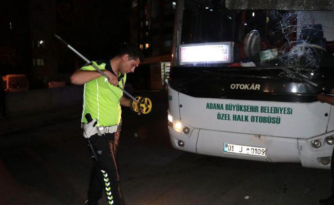 Halk otobüsünün çarptığı yaya ağır yaralandı
