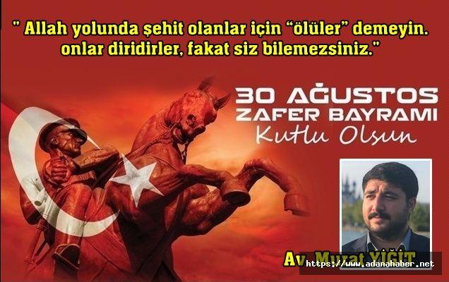 Avukat Murat Yiğit'in kutlama mesajı