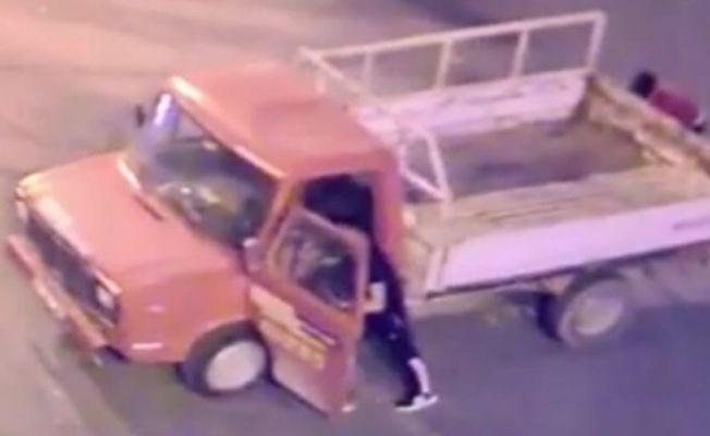 Eşi için iki ayrı kamyonet çaldı