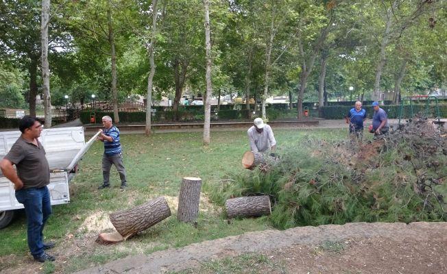Kozan'da sağanak ve dolu yağışı etkili oldu