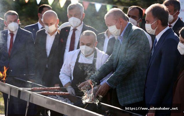 Adana Kebabının ateşini Cumhurbaşkanı Erdoğan yaktı