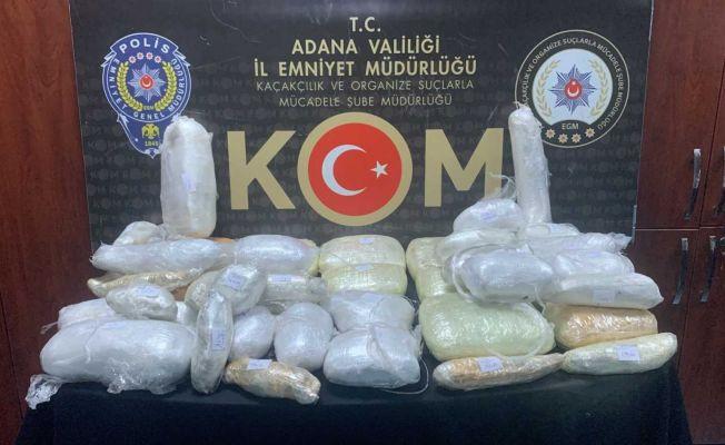 Adana'da 18 kilo 700 gram esrar ele geçirildi