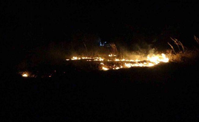 Kozan'da anız yangını korkuttu
