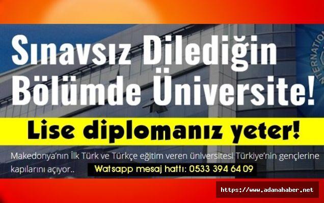 Makedonya'da sınavsız üniversite fırsatı