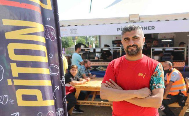 """""""Piton Döner"""" Adana Lezzet Festivali'ne damga vurdu"""